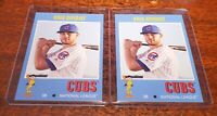 (2) LOT KRIS BRYANT SP 2019 TOPPS #TBT #27 '71 FOOTBALL PRINT RUN ONLY /674!