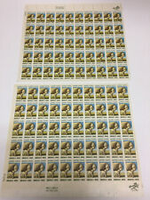 100 Scott 1423 6 cent American Wool Industry Stamps 2 Full Sheets Sheep $1 Ship