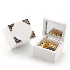 Vintage White Wood Music Box :  La Vie En Rose