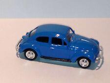 WELLY 1967 Blue Volkswagen Beetle Car Hard Top DIE CAST W/ PLASTIC PARTS