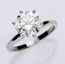 Anillos de joyería con diamantes brillantes de oro blanco VS1