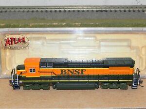 Atlas N Ga. BNSF Dash 8-40B Powered Locomotive LNIB RUNS