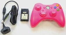 GENUINE Microsoft XBox 360 PINK Play & Charge Kit & Wireless Game Controller OEM