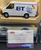 CORGI - FORD TRANSIT VAN - BT BRITISH TELECOM - 1/43 SCALE MODEL  CC07808 BNIB