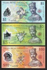 Brunei Banknote - 1 5 10 Ringgit - 2011 - Polymer