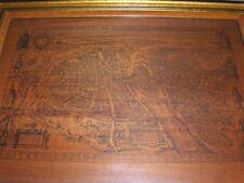 Vintage Claes Jansz Visscher 1618 Paris France Map Reproduction Print on Wood