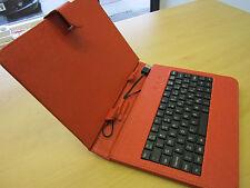 """ROSSO / NERO mini B USB Keyboard PU Pelle Custodia / Supporto per 8 """"TOUCH SCREEN TABLET"""