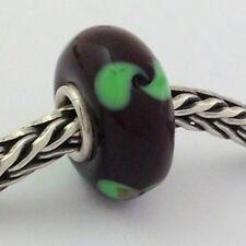 Authentic Trollbeads Ooak Glass Unique Bead Charm #3, Tiny 12mm Diameter New