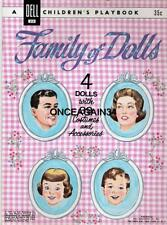 Vintage Uncut 1961 Family Of Dolls Paper Dolls~#1 Reproduction~Pretty Set!