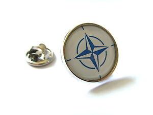 NATO FLAG MILITARY ROUNDEL LAPEL PIN BADGE GIFT