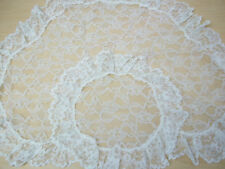 Rare Vintage Lace Floral Mantilla Veil/Scarf - Made in France - Excellent