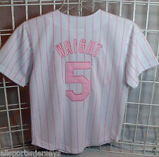 NWT MLB MAJESTIC YOUTH JERSEY  - NEW YORK METS PINK - DAVID WRIGHT -  12/14