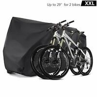XXL Bike Cover Durable Bicycle Cover Waterproof Outdoor Protector  for 2 Bikes