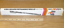 8pc 1974 Aurora AFX Slot Car BILL BOARDS Billboard RaceWall Guardrail Clips 1466