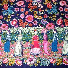 1m Frida La Catrina Fabric Marine - Alexander Henry PER METRE