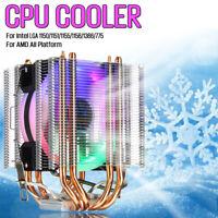 CPU Cooler 4Pipe 4Pin LED RGB 90MM Fan For Intel LGA 775/1155/1156/1150/1366 AMD