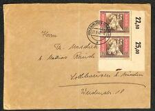GERMANY SCOTT B211 (x2) SEMI-POSTAL STAMPS HOLZKIRCHEN OBERBAY COVER 1942 (JY)