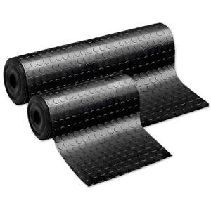 Teppich Gummi Anti-rutsch Schwarz Läufer Überzug Fußboden Bolle Side Step PVC