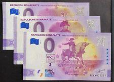 BILLET 0  EURO NAPOLEON BONAPARTE série de 3 BILLETS ANNIVERSARY 2021 N°  DIVERS