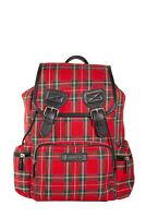 Red Gothic Punk Rock Retro Rockabilly Kenneth Tartan Backpack Bag BANNED Apparel