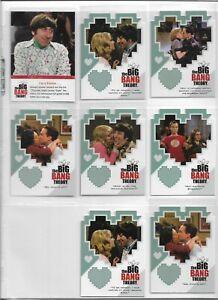 BIG BANG THEORY SEASON 3 & 4 TRADING CARDS DIE CUT INSERT LOT OF 8 CARDS inc F08