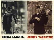 La propaganda culturale MUSICA opportunità talenti sovietico URSS VIOLINO POSTER bb2436a