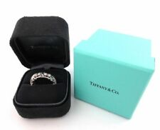 TIFFANY & Co. Platinum Schlumberger Sixteen Stone Diamond X Ring 6 $9,900