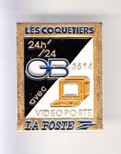 RARE PINS PIN'S .. PTT LA POSTE FRANCE TELECOM CB MINITEL LES COQUETIERS 93 ~CJ