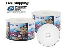 SPECIAL!!! 100 PHILIPS 16X White Inkjet HUB Printable DVD-R Disc 4.7GB