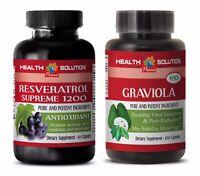 Anti-aging beauty set - RESVERATROL – GRAVIOLA COMBO - resveratrol liquid extrac