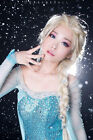 Frozen Elsa Adult Queen Princess Ponytail Wig Hair For Halloween & Cosplay Party