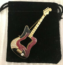 Brand New - Gift Bagged Electric Guitar Jewelry Pin -
