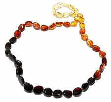 Genuine Natural Rainbow Baltic Amber Necklace for Adult 45 cm