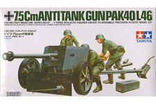 Tamiya 35047 Maquette 1/35 German 75mm Anti Tank Gun (Pak40/L46)
