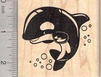 Marine Wildlife H15604 Beluga Whale Rubber Stamp