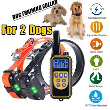 New listing 2 Dogs 800M Ip6X Waterproof Remote Control Dog Shock Training Collar Lcd Display