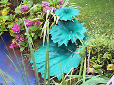 Small Plastic Moulded Gunnera Leaf Garden Feature - Perfect for Ponds