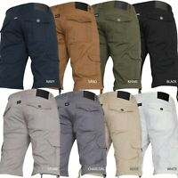 New Mens VON DENIM Cargo Combat Summer Chino Gym Casual Work Knee Length Shorts