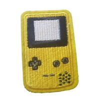 Yellow Gameboy Retro Embroidered Iron On Patch Dress Bag t-shirt Jacket Skirt