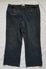 Ladies size 20 Blue Button Front Jeans Shortened - Venezia