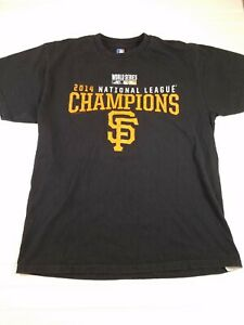 San Francisco Giants MLB 2014 National Champions baseball tee shirt sz large  C7