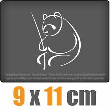 Pandabär 9 x 11 cm JDM Decal Sticker Auto Car Weiß Scheibenaufkleber