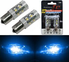 LED Light 50W 1156 Blue 10000K Two Bulbs Back Up Reverse Replacement Show Color