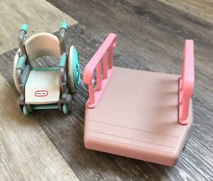 Little Tikes Dollhouse Furniture Wheelchair and Ramp / Accessories