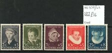 Netherlands 1956 Child Welfare set Sg838/42 Mnh Sg cv £16
