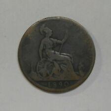 1890 Victoria DG Britt Reg FD One Penny Coin