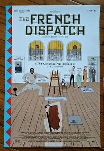 """The French Dispatch rare Story #1  """"The Concrete Masterpiece"""" poster"""