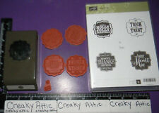 STAMPIN UP TAGS FOR 4 YOU AND PUNCH 5 CLING RUBBER STAMPS LABEL BRACKET THANKS
