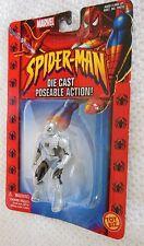 Spider-man Web Of Steel Spiderman Armor Die Cast Poseable Figure New Sealed 2002