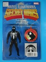 Secret Wars black spiderman venom figure variant  #1 Marvel Comic book
